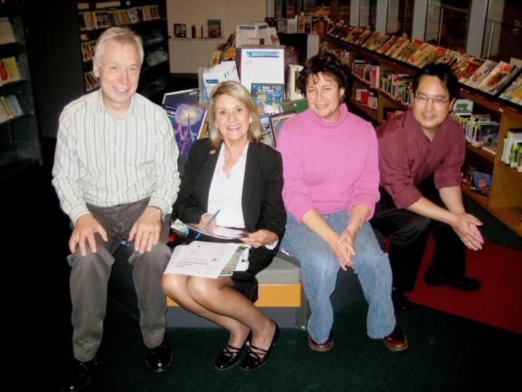 Glenn Thomas, Cyndy Thomas, Deborah Estreicher, and Peter Lee